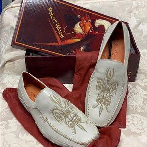 Robert Wayne Leather Loafer Tribal EUC size 12